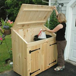 2x4 Ready to Assemble Garbage Bin