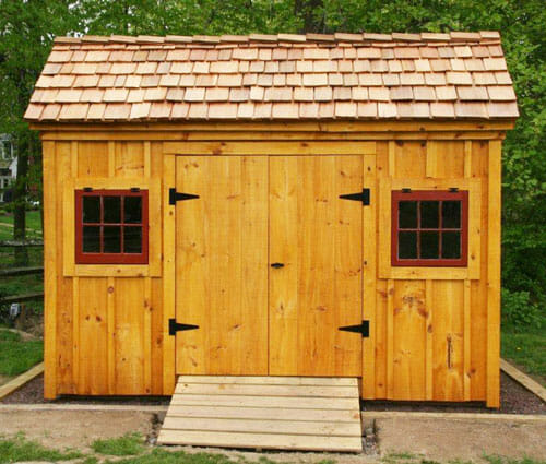 8x12 Saltbox - Exterior, prefab shed kits