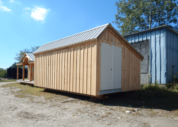We can build our prefab storage sheds with custom floorplans, like this one without windows.