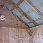 2x6 Hemlock lumber is used to build the rafters in our saltbox storage sheds.