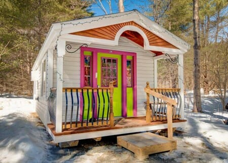 Apple Blossom Tiny House by Jamaica Cottage Shop