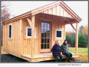 Pond House Home Office with Board-and-Batten siding and Insulated Windows