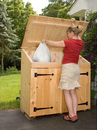 2x4 Pine Garbage Bin