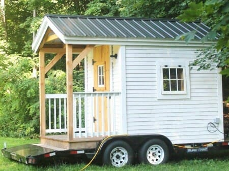 8x12 Mobile Nook Tiny House on Wheels with Trailer