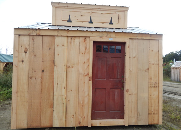 10X12 New Yorker Option A with Antique Door and Cupola