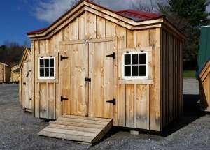 10x12 Tool Shed with Autumn Red Roof color upgrade