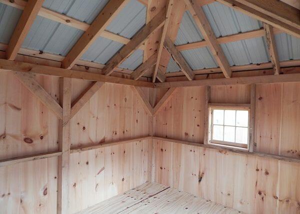 10x12 Tool Shed with a 2x2 hinged barn sash window.