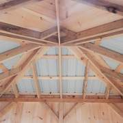 10x12 Tool Shed - Interior view of the ceiling