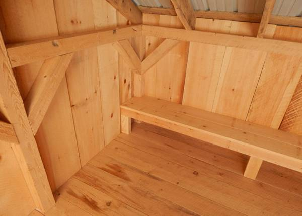 10x14 Camp Alcove post and beam lean to shelter