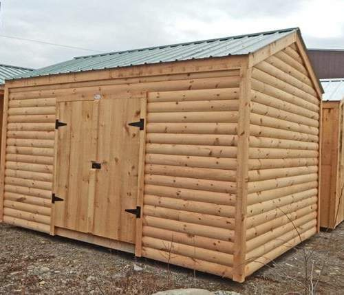 10x14 New Yorker Option A shed with log cabin siding