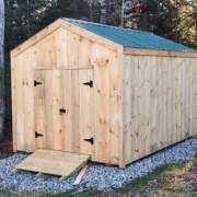 10x14 New Yorker Option B is an economical and spacious storage shed