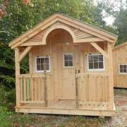 Post and beam Pond House with porch upgrades