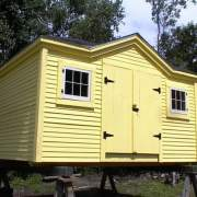 10x14 Tool Shed with clapboard siding and painted yellow