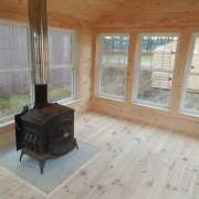 10x14 Florida Room four season interior with woodstove addition