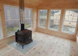 10x14 Florida Room four season interior with woodstove addition
