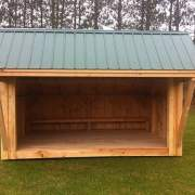 10x14 Camp Alcove includes a built-in bench