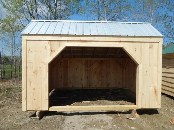 10x14 Basic Run In - Shed or Livestock Shelter