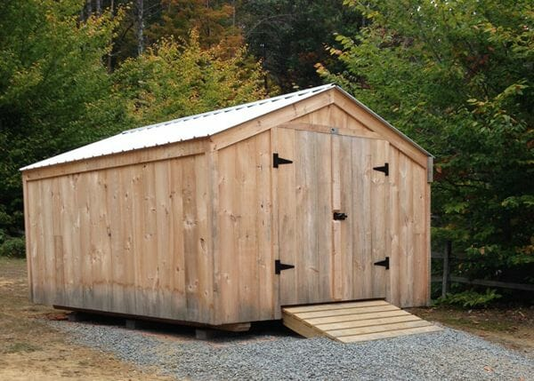 10x14 Vermonter with Silver Galvanized Roof