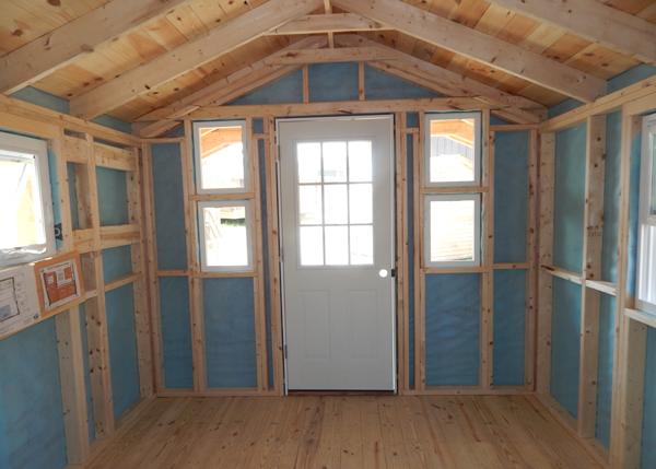 10x16 Pond House - Three Season Interior Customized
