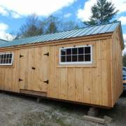 If adding doors to the bearing wall they will need to be shorter than average in order to fit in this shed.