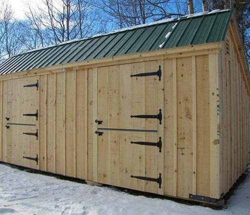 10x20 Stall Barn includes two dutch doors
