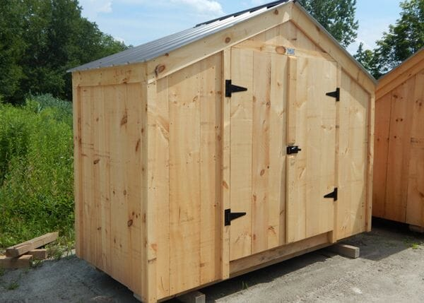 10x4 Utility Shed with charcial gray roof