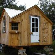 12x12 Cross Gable cabin with client made modificaitons