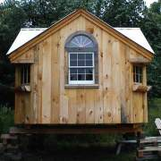 12x12 Cross Gable with special ordered windows