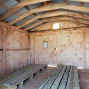 10x14 Gable interior with double door and Pressure Treated Ramp