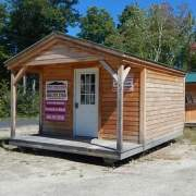 12x16 Home Office with clapboard siding and insulated door
