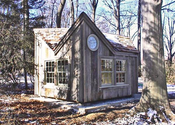 12x16 Backyard Retreat with Cedar Shingle Roof and Extra Windows