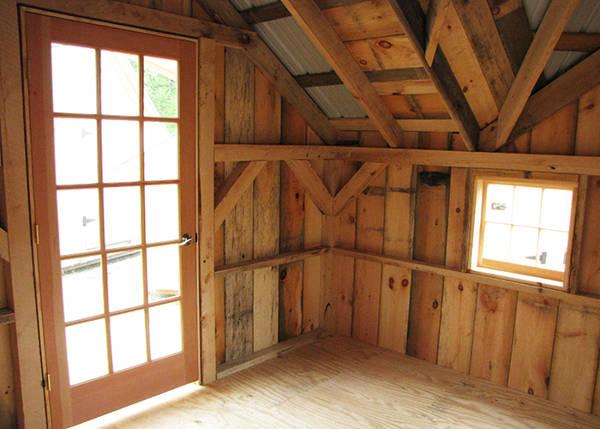 12x16 Backyard Retreat with 15-lite Insulated Wood Door