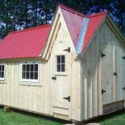 12x16 Dollhouse - a playhouse with a red metal roof