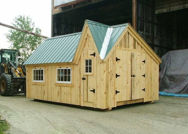 12x16 Dollhouse is available as a shed kit, fully assembled unit or step by step do it yourself plans.