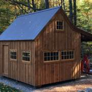 12x16 Hobby House with Overhang