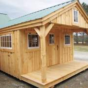 12x20 Bunkhouse with extra windows. The loft and porch are included.