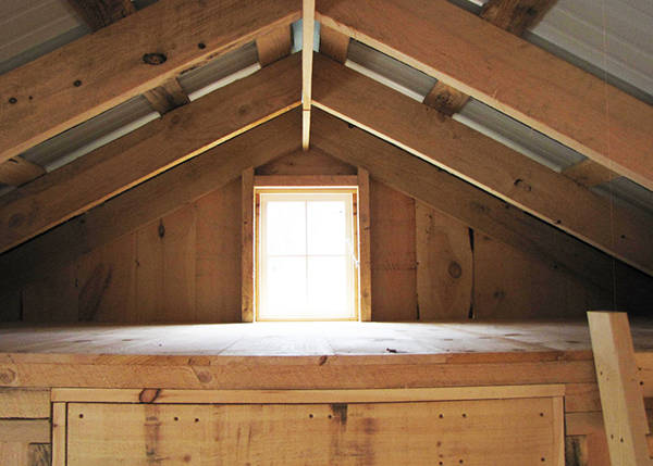 A small sleeping or storage loft that is included with the Bunkhouse