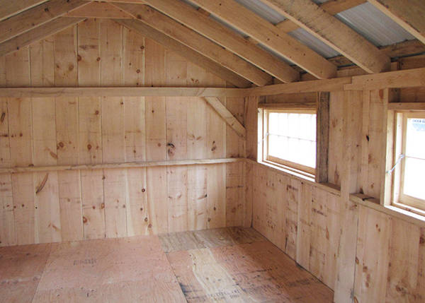 12x20 Bunkhouse with extra barn sash windows