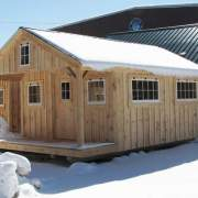 12x20 Bunkhouse that has been modified to have additional windows