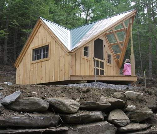 This Writers Haven was constructed with a screen door