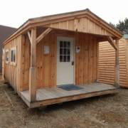12x20 Home Office with nine-lite insulated steel door and insulated slider windows