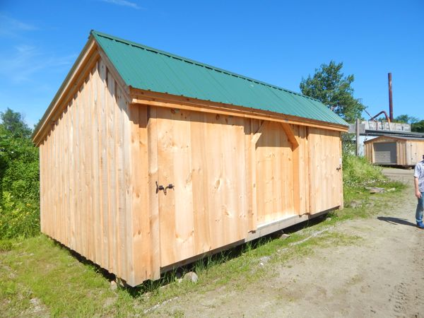12x20 Three Sled Shed - Standard Build