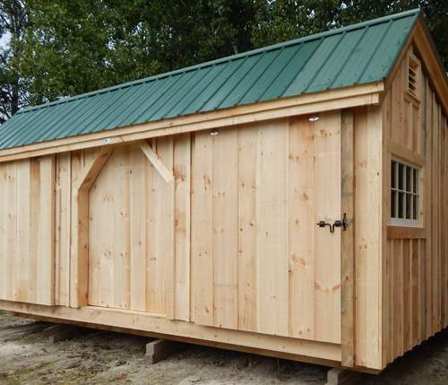 12x20 Three Sled Shed with Window