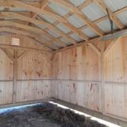 12x20 Garage with hemlock post and beam frame