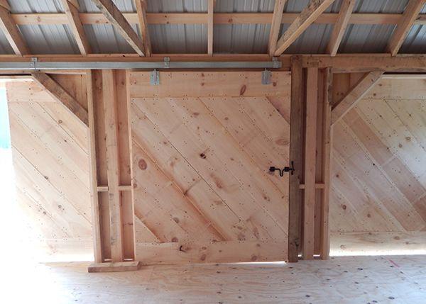 Three Sled Shed - Hanging Barn Doors