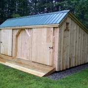 12x20 Three Sled Shed with Pressure Treated Ramp