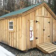 The 12x20 Gable shed includes double doors and pressure treated ramp.