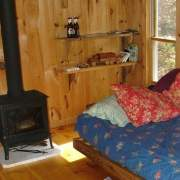 12x16 Home Office post and beam cabin with four season insulation