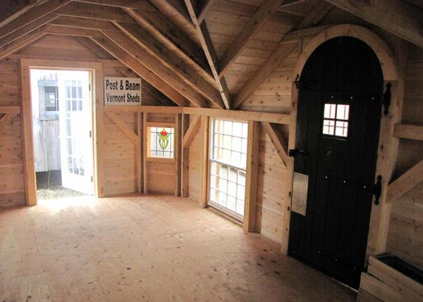 12x24 Four Season Cross Gable - Custom Interior