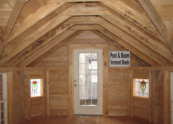 12x24 Cross Gable - Custom Four Season Interior